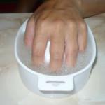 SPA-маникюр для коротких ногтей.