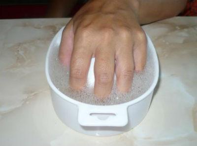 делаем ванночку для рук